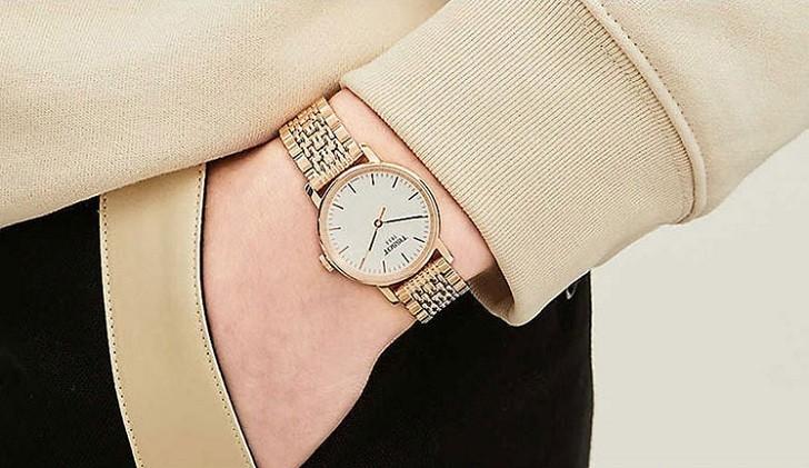 Đồng hồ Tissot T109.210.33.031.00 màu vàng hồng thời trang - Ảnh 4
