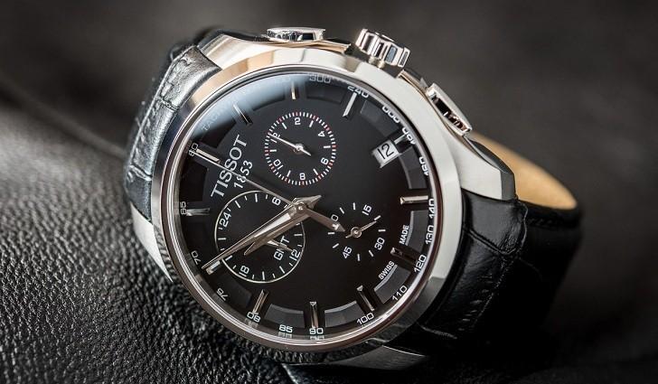 Đồng hồ Tissot T035.439.16.051.00 ba ô chức năng bấm giờ - Ảnh 1