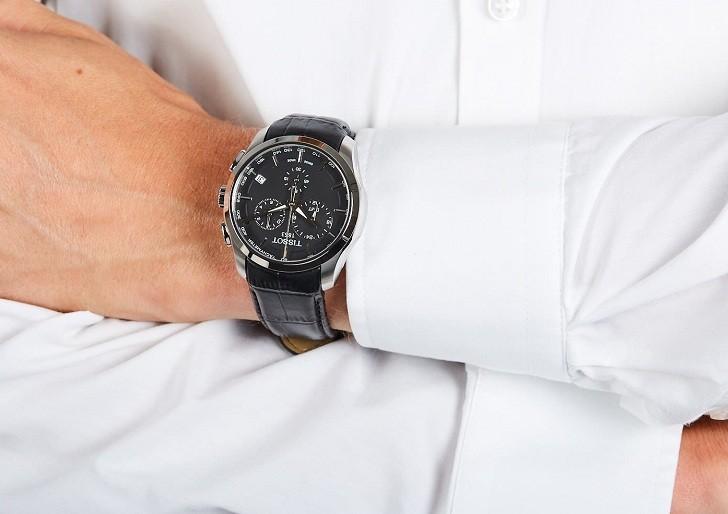 Đồng hồ Tissot T035.439.16.051.00 ba ô chức năng bấm giờ - Ảnh 3