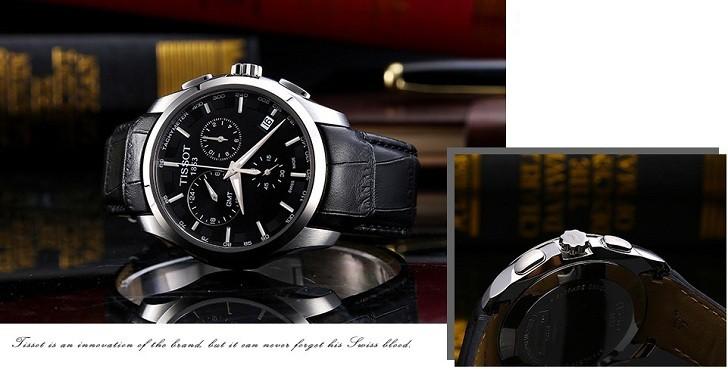 Đồng hồ Tissot T035.439.16.051.00 ba ô chức năng bấm giờ - Ảnh 6