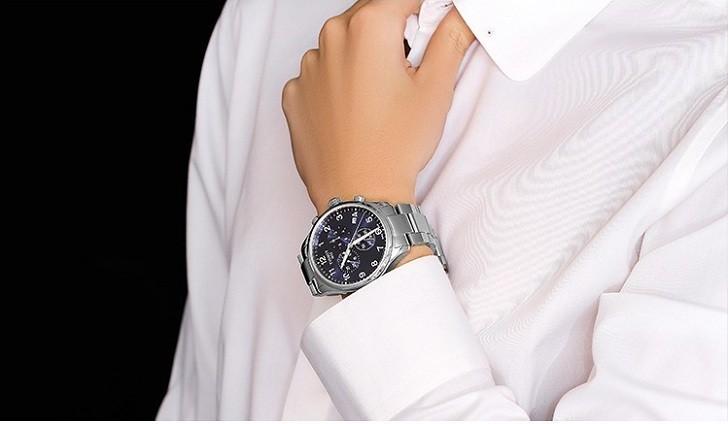 Đồng hồ Tissot T055.417.11.047.00 mặt số xanh tựa đại dương - Ảnh 1