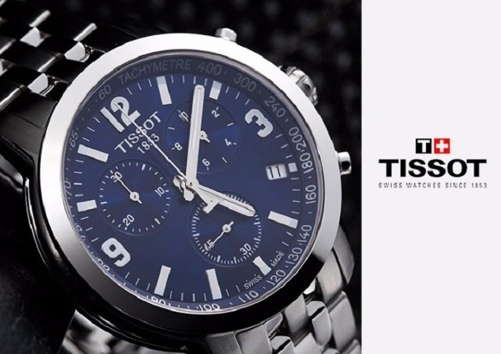 Đồng hồ Tissot T055.417.11.047.00 mặt số xanh tựa đại dương - Ảnh 3