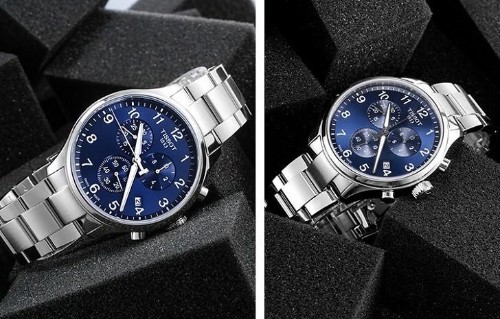 Đồng hồ Tissot T055.417.11.047.00 mặt số xanh tựa đại dương - Ảnh 4