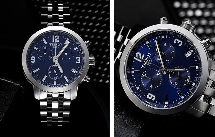 Đồng hồ Tissot T055.417.11.047.00 mặt số xanh tựa đại dương - Ảnh 5