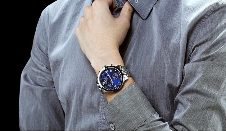 Đồng hồ Tissot T055.417.11.047.00 mặt số xanh tựa đại dương - Ảnh 6