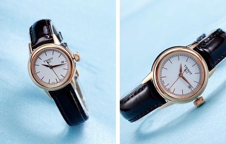 Đồng hồ Tissot T085.210.36.011.00 dây da trơn chính hãng - Ảnh 3