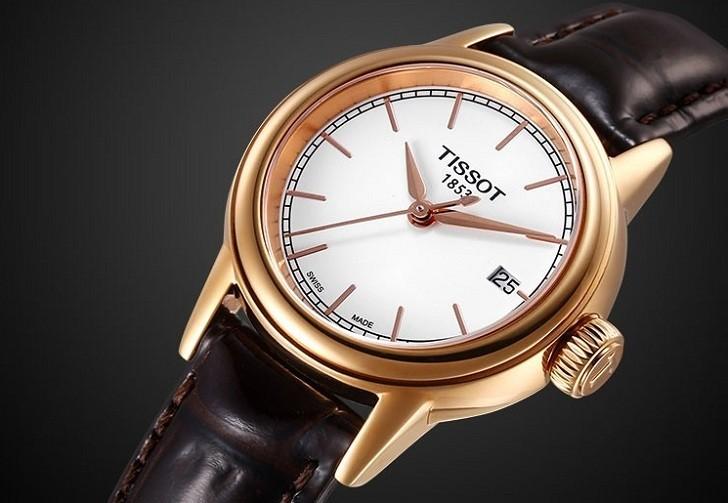 Đồng hồ Tissot T085.210.36.011.00 dây da trơn chính hãng - Ảnh 5