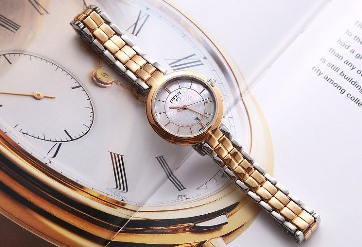 Đồng hồ Tissot T094.210.22.111.01 dây đeo kim loại mạ vàng - Ảnh 1