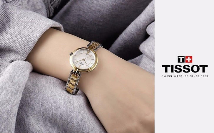 Đồng hồ Tissot T094.210.22.111.01 dây đeo kim loại mạ vàng - Ảnh 4