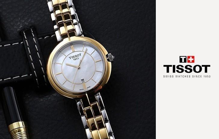 Đồng hồ Tissot T094.210.22.111.01 dây đeo kim loại mạ vàng - Ảnh 5
