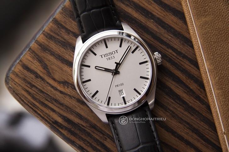 Đồng hồ Tissot T101.410.16.031.00 bộ kim chỉ phủ dạ quang - Ảnh 2