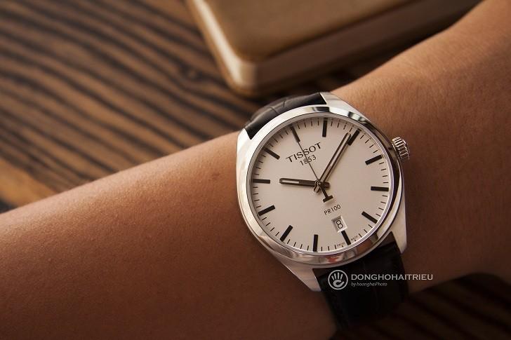 Đồng hồ Tissot T101.410.16.031.00 bộ kim chỉ phủ dạ quang - Ảnh 3