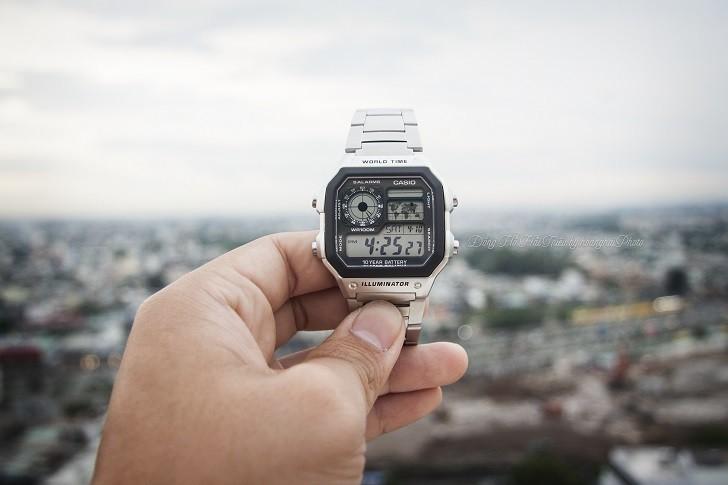 Đồng hồ Casio AE-1200WHD-1AVDF chính hãng - Ảnh: 3