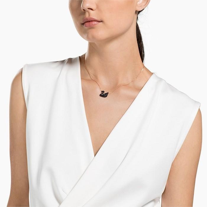 Swarovski Iconic Swan Pendant Necklace 2
