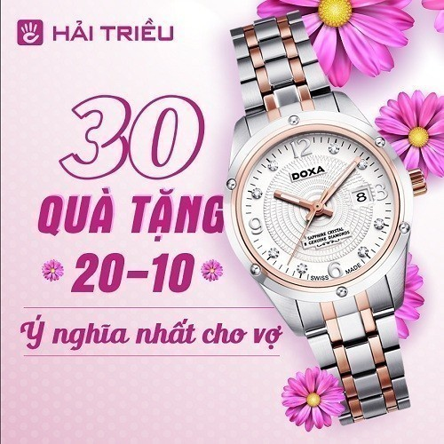 Quà tặng đồng hồ 20/10 ý nghĩa cho vợ