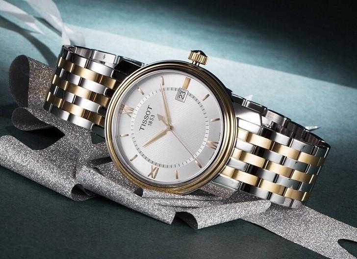 Đồng hồ Tissot T097.410.22.038.00 dây kim loại demi mạ vàng - Ảnh 2