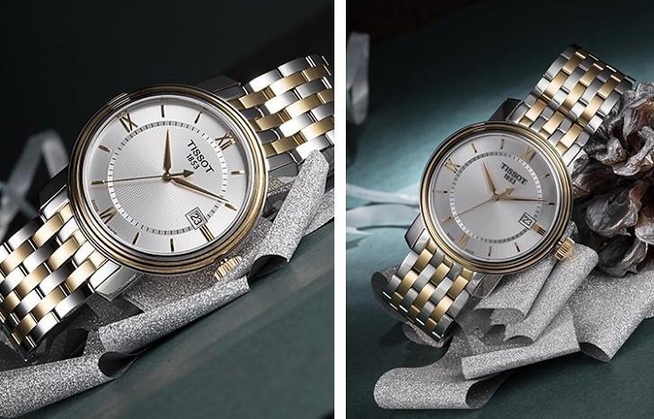 Đồng hồ Tissot T097.410.22.038.00 dây kim loại demi mạ vàng - Ảnh 4
