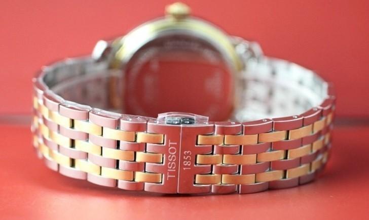 Đồng hồ Tissot T097.410.22.038.00 dây kim loại demi mạ vàng - Ảnh 5