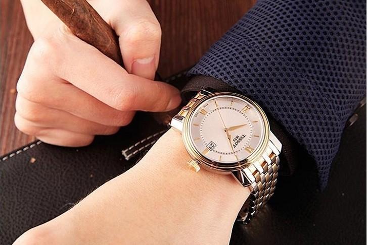 Đồng hồ Tissot T097.410.22.038.00 dây kim loại demi mạ vàng - Ảnh 7