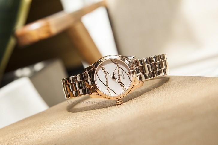 Đồng hồ Tissot T112.210.33.111.00 dải lụa pha lê trên xà cừ - Ảnh 1