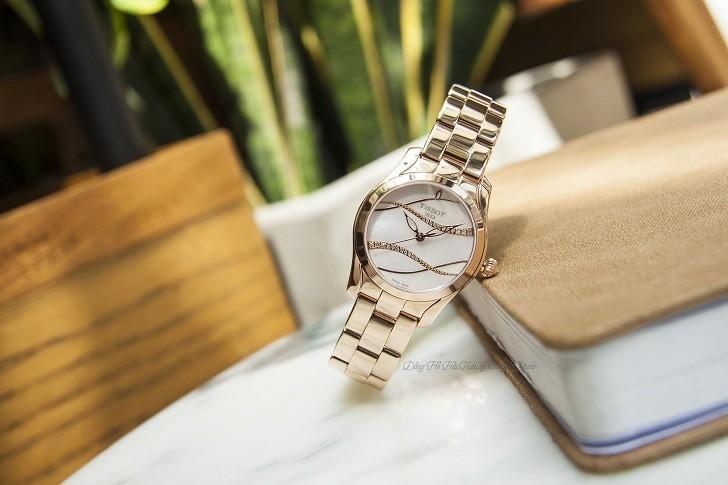 Đồng hồ Tissot T112.210.33.111.00 dải lụa pha lê trên xà cừ - Ảnh 2