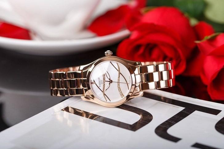Đồng hồ Tissot T112.210.33.111.00 dải lụa pha lê trên xà cừ - Ảnh 3