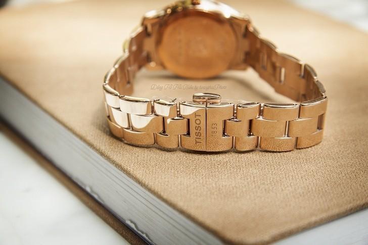 Đồng hồ Tissot T112.210.33.111.00 dải lụa pha lê trên xà cừ - Ảnh 4
