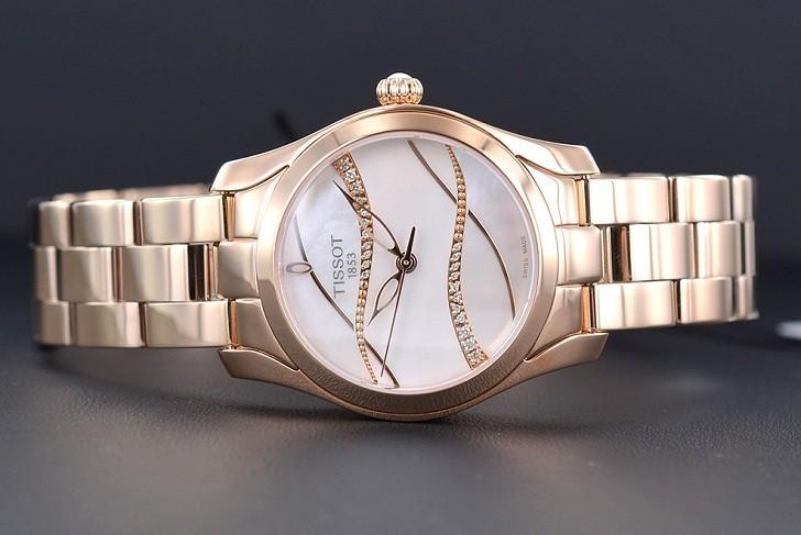 Đồng hồ Tissot T112.210.33.111.00 dải lụa pha lê trên xà cừ - Ảnh 6
