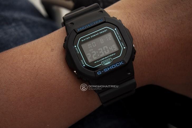 G-Shock DW-5600BBM-1DR trên cổ tay - Ảnh: 5