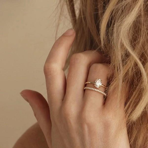 N hẫn mạ vàng nữ - Ảnh 1