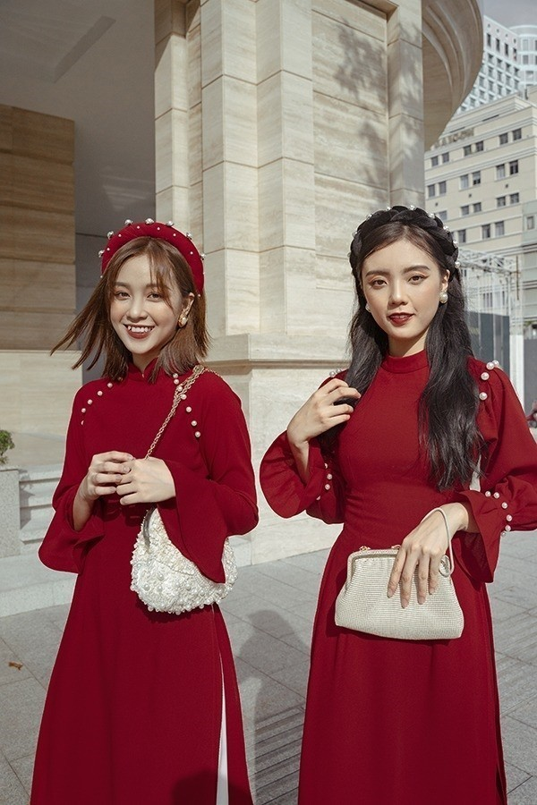 Áo dài Tết xưa, áo tài Tết truyền thống cho năm mới - Ảnh: 20