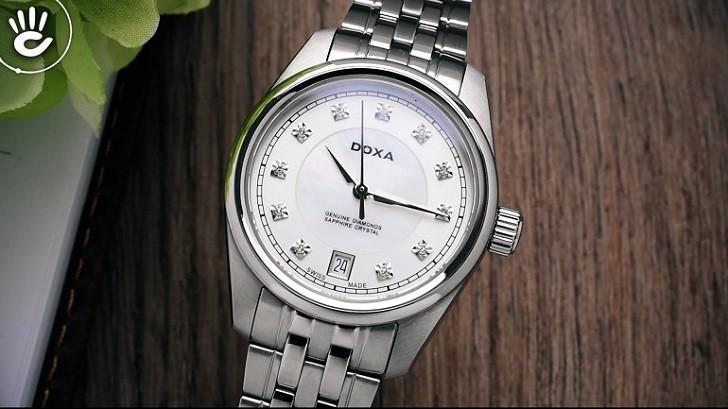 Đồng hồ Doxa D150SWH và giá trị đến từ 11 viên kim cương - Ảnh: 5