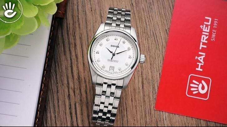 Đồng hồ Doxa D150SWH và giá trị đến từ 11 viên kim cương - Ảnh: 1