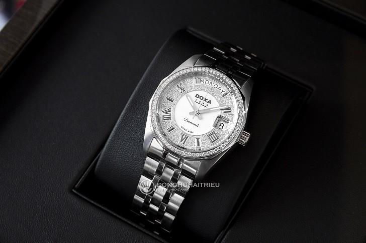 Đồng hồ Doxa D105SWH và sự xuất hiện của 163 viên kim cương - Ảnh 6