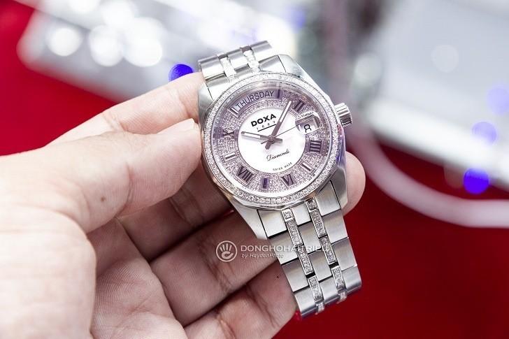 Đồng hồ Doxa D105SMW Thụy Sỹ, đính 258 viên kim cương thật - Ảnh: 1