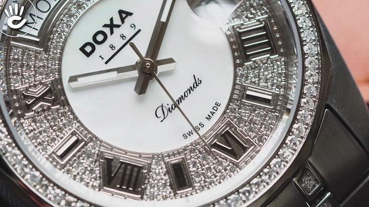 Đồng hồ Doxa D105SMW Thụy Sỹ, đính 258 viên kim cương thật - Ảnh: 2