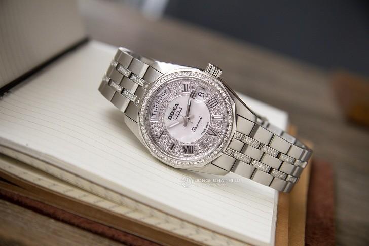 Đồng hồ Doxa D105SMW Thụy Sỹ, đính 258 viên kim cương thật - Ảnh: 5