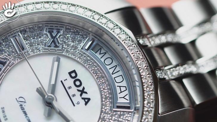 Đồng hồ Doxa D105SMW Thụy Sỹ, đính 258 viên kim cương thật - Ảnh: 6