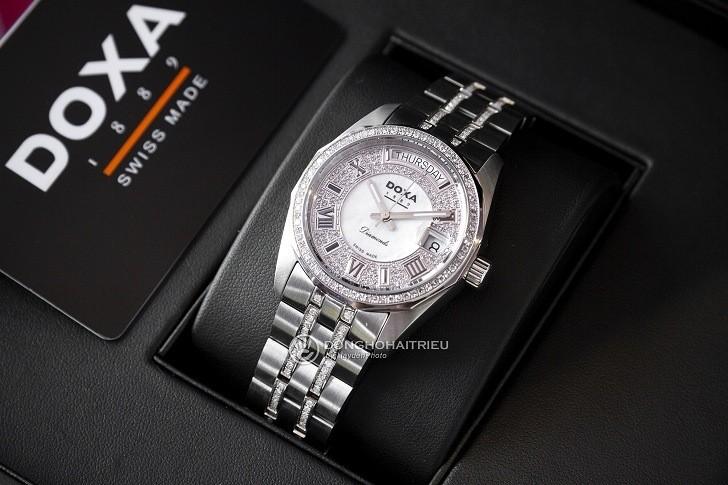 Đồng hồ Doxa D105SMW Thụy Sỹ, đính 258 viên kim cương thật - Ảnh: 7