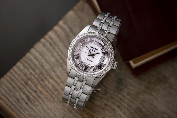 Đồng hồ Doxa D105SMW Thụy Sỹ, đính 258 viên kim cương thật - Ảnh: 8