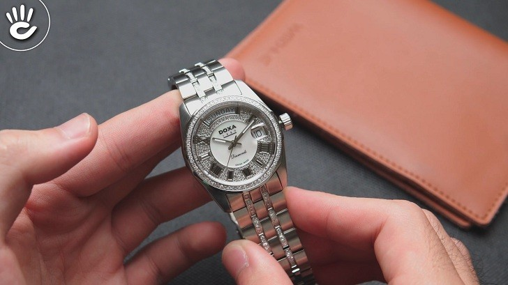 Đồng hồ Doxa D105SMW Thụy Sỹ, đính 258 viên kim cương thật - Ảnh: 9