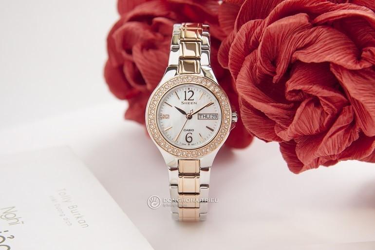 Đồng hồ đeo tay nữ Nhật Bản CASIO SHE-4800SG-7AUDR - Ảnh 5