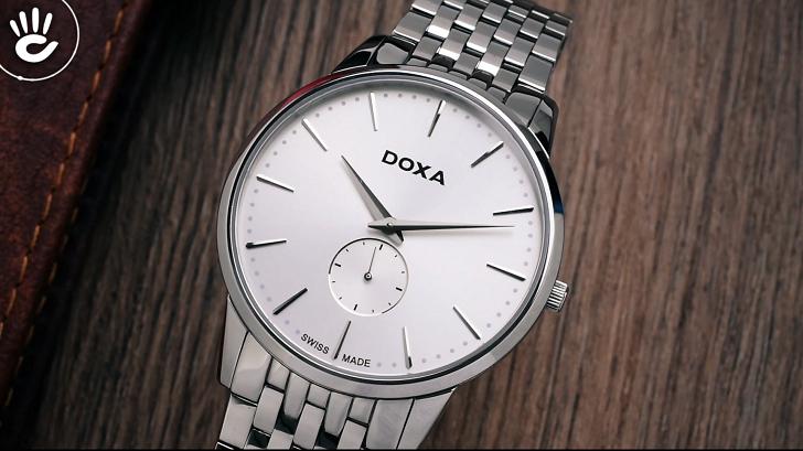 Đánh giá đồng hồ nam Doxa D155SWH kính sapphire, máy Thụy Sỹ - Ảnh 3