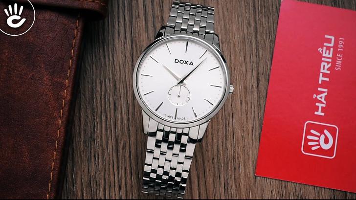 Đánh giá đồng hồ nam Doxa D155SWH kính sapphire, máy Thụy Sỹ - Ảnh 1