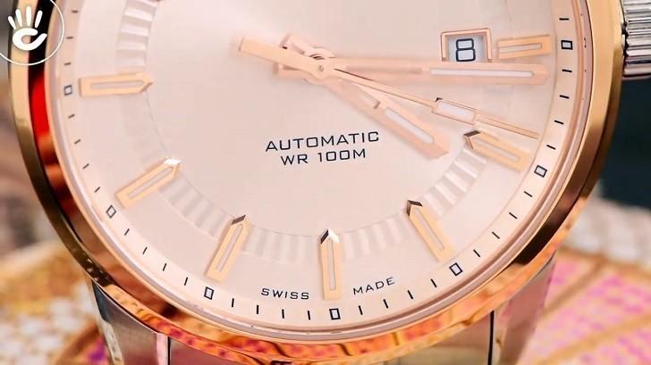 Đồng hồ Doxa D188RIY, máy cơ Thụy Sỹ, chống nước 10ATM - Ảnh: 5