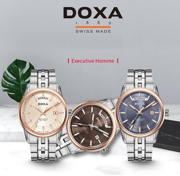 Đồng hồ Doxa D188RIY, máy cơ Thụy Sỹ, chống nước 10ATM - Ảnh: 1