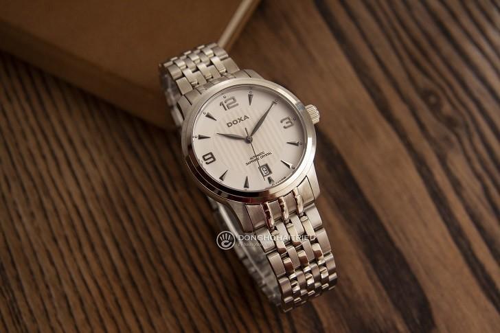 Đồng hồ nam Doxa D147SWHW: Mạnh mẽ, góc cạnh, sang trọng - Ảnh: 4