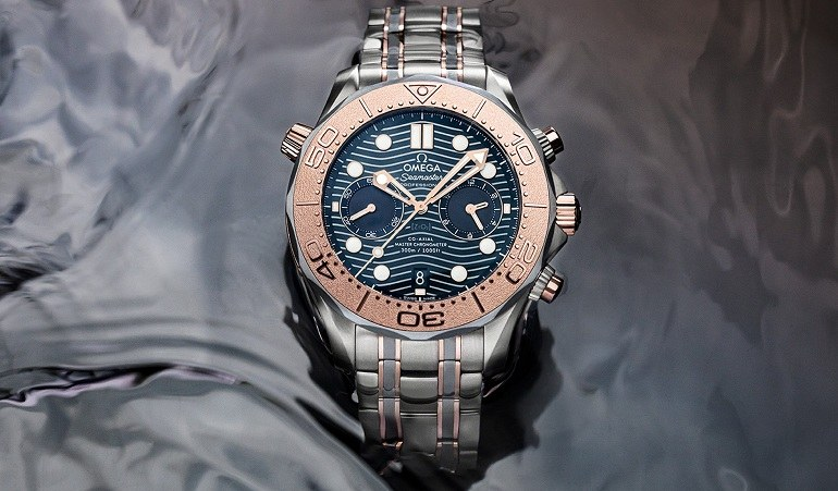 Đồng hồ Omega Seamaster Chronometer 300 Co-Axial Master vàng hồng - Ảnh 11