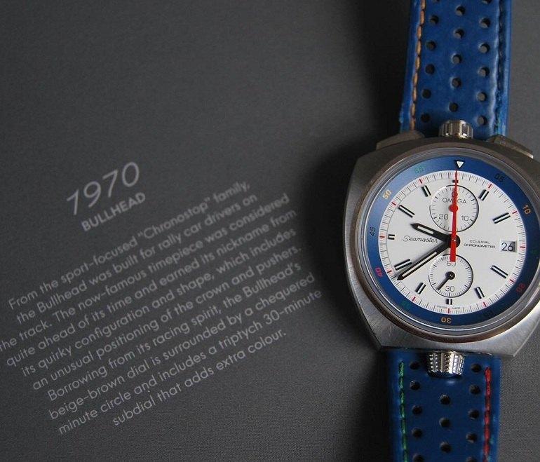 Đồng hồ Omega Seamaster Bullhead Co-Axial xanh trắng thể thao - Ảnh 19