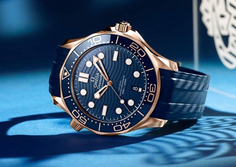Đồng hồ Omega Seamaster Chronometer xanh dương- Ảnh 10